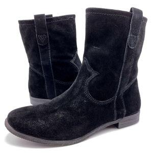 Vince Camuto Fanti 8M Black Suede Ankle Boots